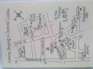 Map of the shops